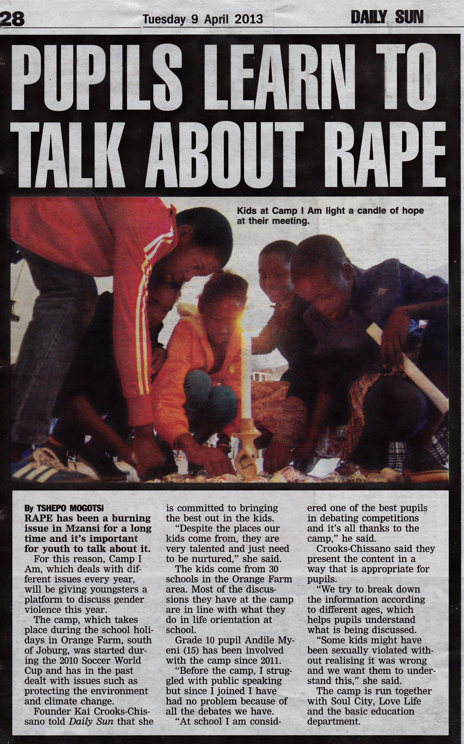 """article on rape More than half the victims of military rape are men  this story originally appeared in the september 2014 issue with the title """"son, men don't get raped."""